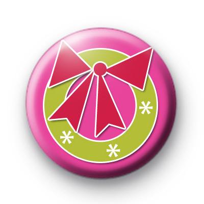 Christmas Wreath Button Badge