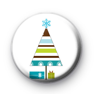 Christmas Tree & Gifts Button Badges