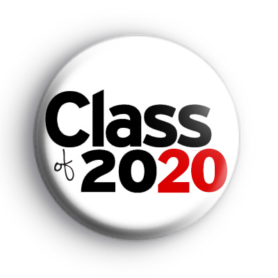 Black and Red Class of 2020 Badge