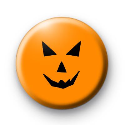 Classic Spooky Orange Pumpkin Badge