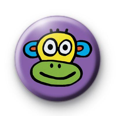 Cute Colourful Cheeky Monkey Badge