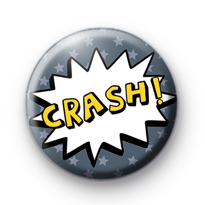 Comic Book CRASH Button Badge