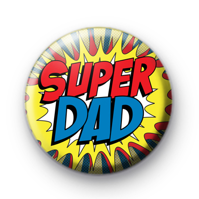 Comic Book Style Super Dad Badge