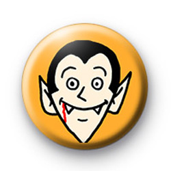 Count Dracula Spooky Halloween Button Badge