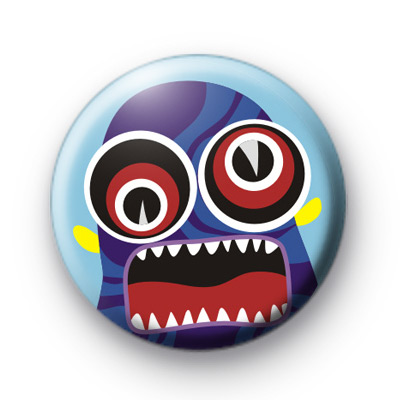 Crazy Wild Eyed Monster Button Badges