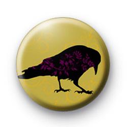 Halloween Black Raven badge