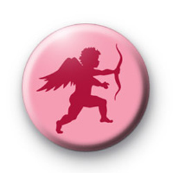 Pink Cupid Button Badge