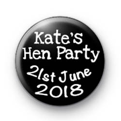 Kate's Hen Party 1 badges