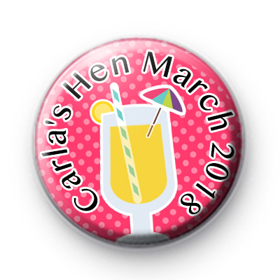 Cute Cocktail Hen Party Badges