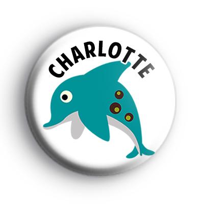 Dolphin Blue Custom Name Badge