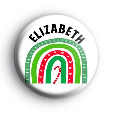 Custom Festive Rainbow Name Badge