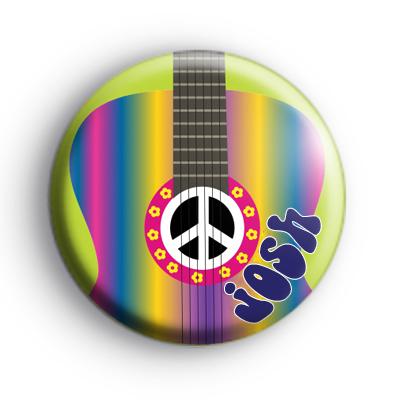 Custom Rainbow Guitar Name Badge
