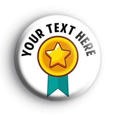Personalised Gold Star Merit Badge