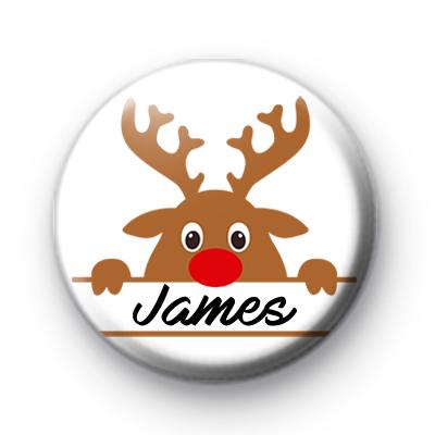 Custom Rudolph Christmas Name Badge