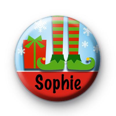 Custom Festive Elf Name Badge