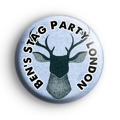 Custom Blue Stag Head Badge