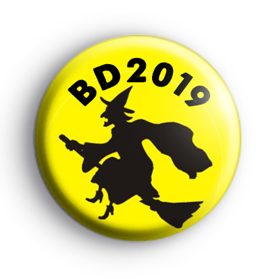 Yellow Personalised Wicked Witch Badge