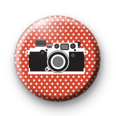 Cute Old School Camera Red Badges
