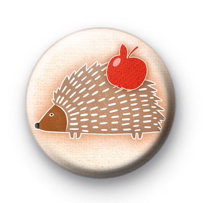 Cute Woodland Hedgehog Badge