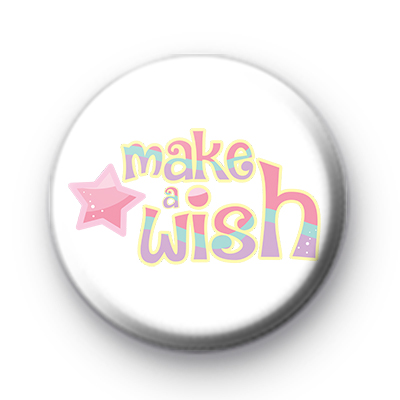 Cute Make A Wish Birthday Badge