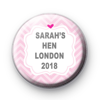 Cute Pink Hen Party Badges