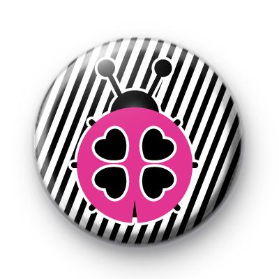 Cute Pink Ladybird Pin Button Badge