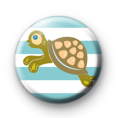 Cute Green Turtle Badge