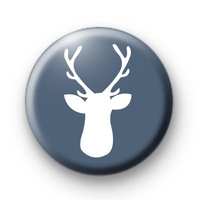 Cute Blue Stag's Head Badge