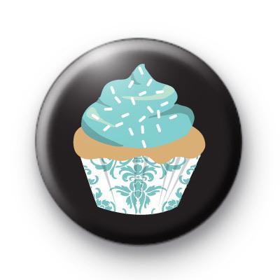 True Blue Cupcake Button Badges