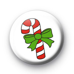 Cute Candy Cane Badge