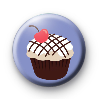 Cute Cherry Red Cupcake Badges
