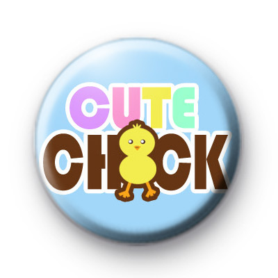 Cute Chick Blue Badges