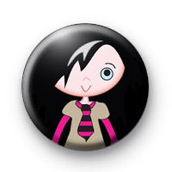 Cute Emo Girl Badge