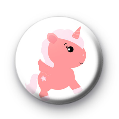 Sweet Magical Unicorn Button Badge