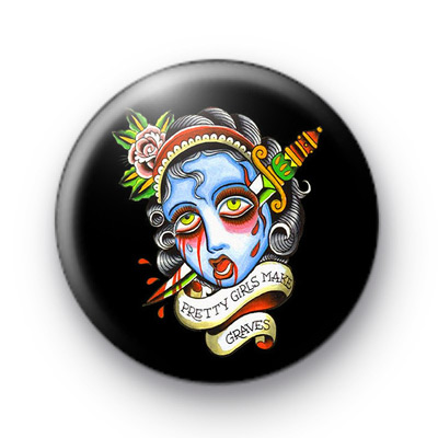 Ugly Head Button Badges