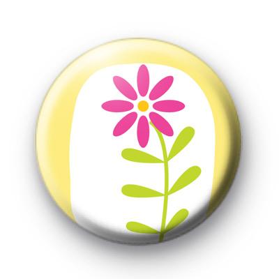 Daisy Daisy Flower Button Badge