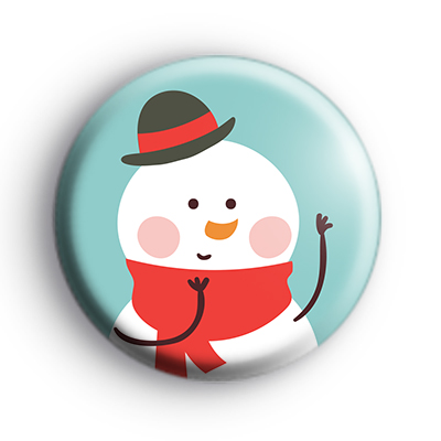 Dapper Dressed Snowman Badge