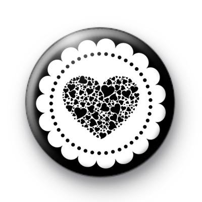 Dark Black Heart Badge