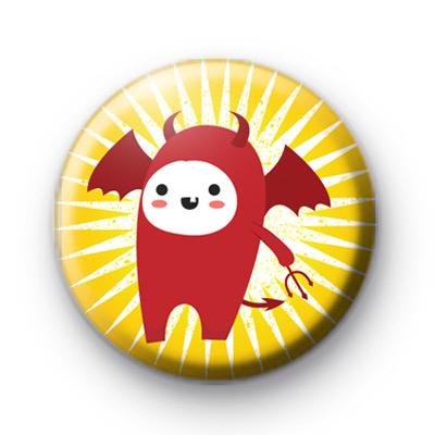 Devil At Halloween Badge