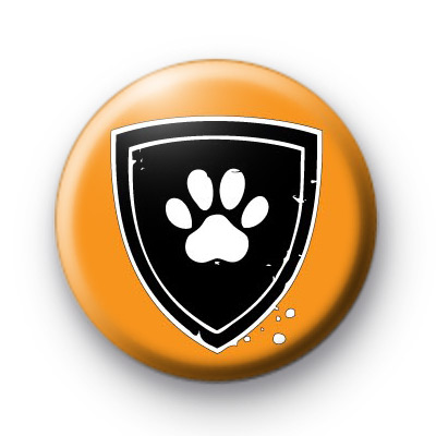 Dog Paw Sheild Button Badges