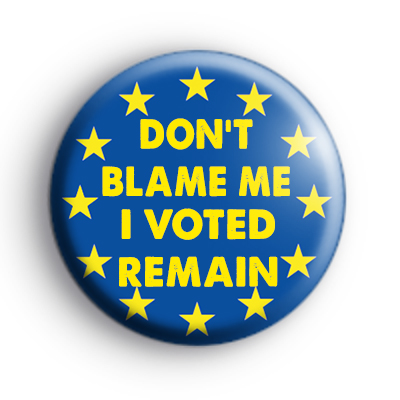 Dont Blame Me I voted REMAIN Badge