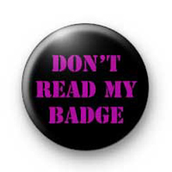 Don't read my badges