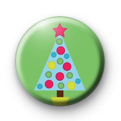 Dotty Spotty Christmas Tree Green Badge