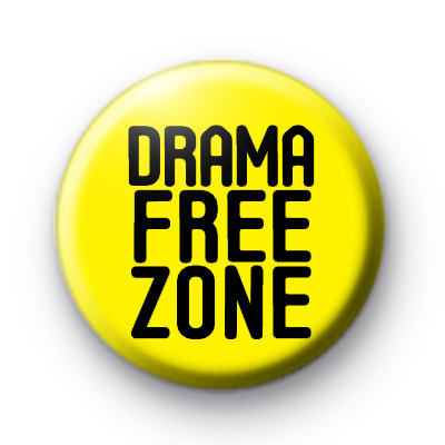 Drama Free Zone Badge