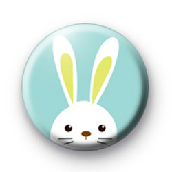 Cute White Easter Bunny Badge