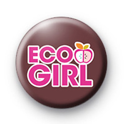 Cute Eco Girl Button Badges