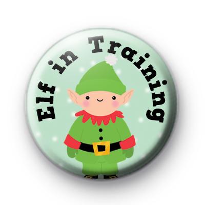 Elf in Training Button Badge