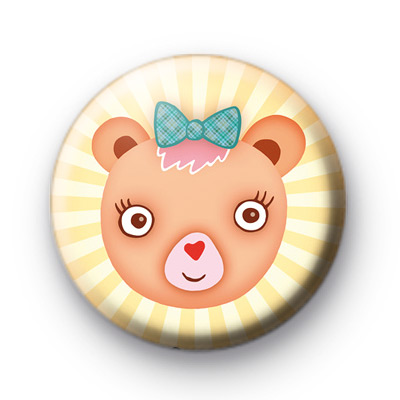 Ever so sweet teddy bear badge