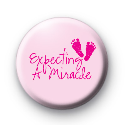 Expecting a Miracle Baby Girl Badges