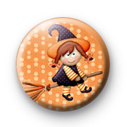 Extra Cute Witch Button Badges